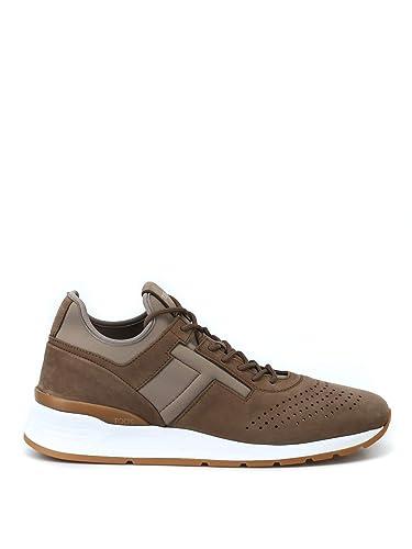 a8f0d42120 Tod's Men's XXM69A0W920JV7CV73 Brown Leather Sneakers: Amazon.co.uk ...