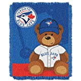 MLB Toronto Blue Jays Field Woven Jacquard Baby Throw Blanket, 36x46-Inch