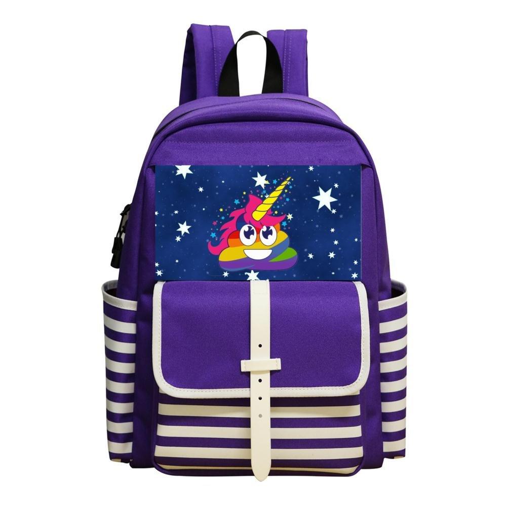 Fan - Mochila escolar con diseño de unicornio y emoticonos para niños: Amazon.es: Oficina y papelería