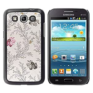 Paccase / SLIM PC / Aliminium Casa Carcasa Funda Case Cover - Vintage Feminine Flowers Gentle - Samsung Galaxy Win I8550 I8552 Grand Quattro