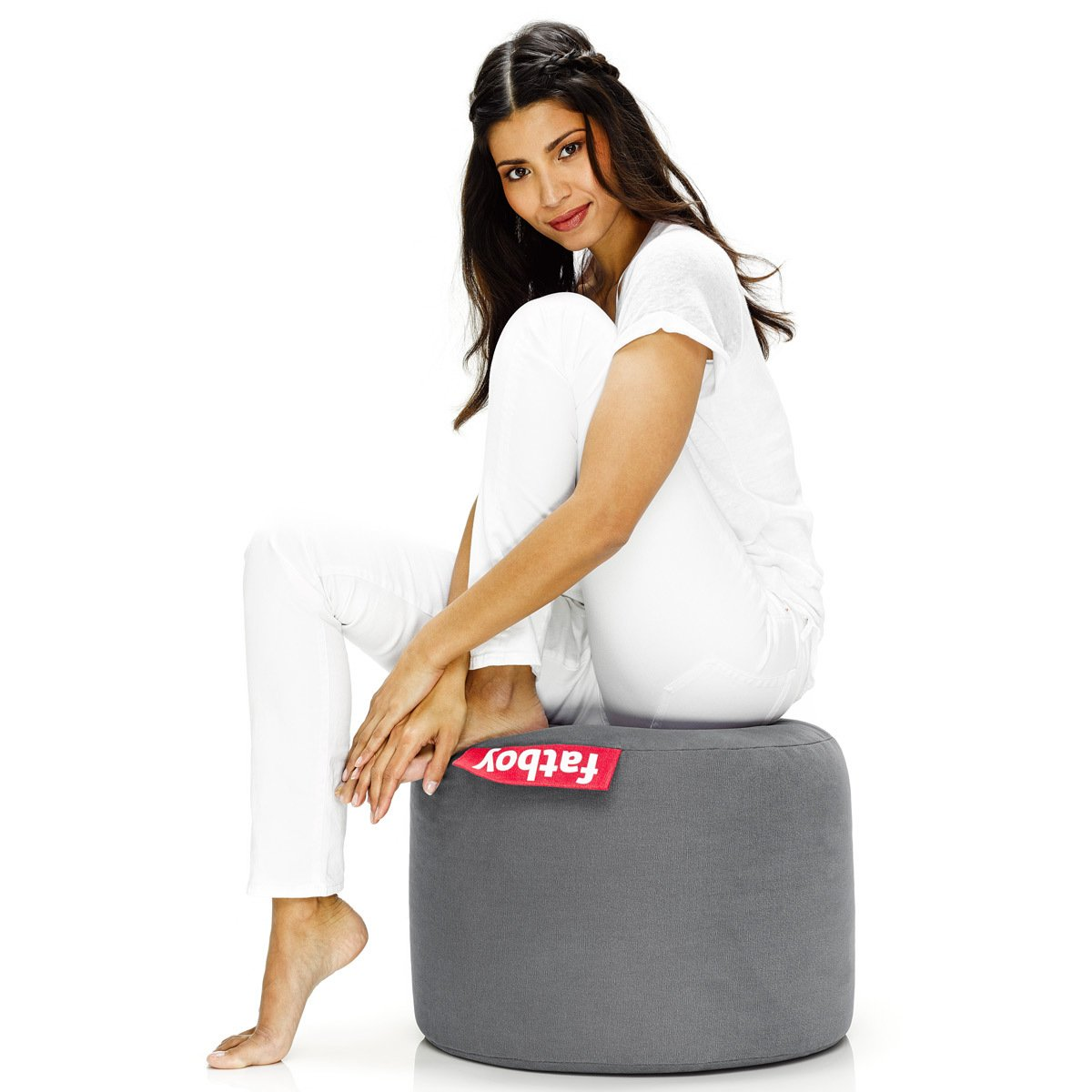 Fatboy - The Point Stonewashed - Pouf silver 900.0170.3