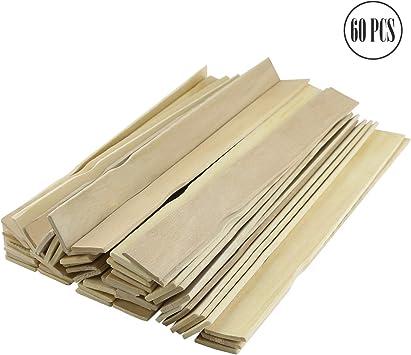 60 palillos de pintura Fyess – paletas de madera de grado premium ...