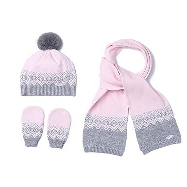 9d735a471a0 Amazon.com  Baby Boy Girl Hat+Scarf+Gloves 3 Pieces Set