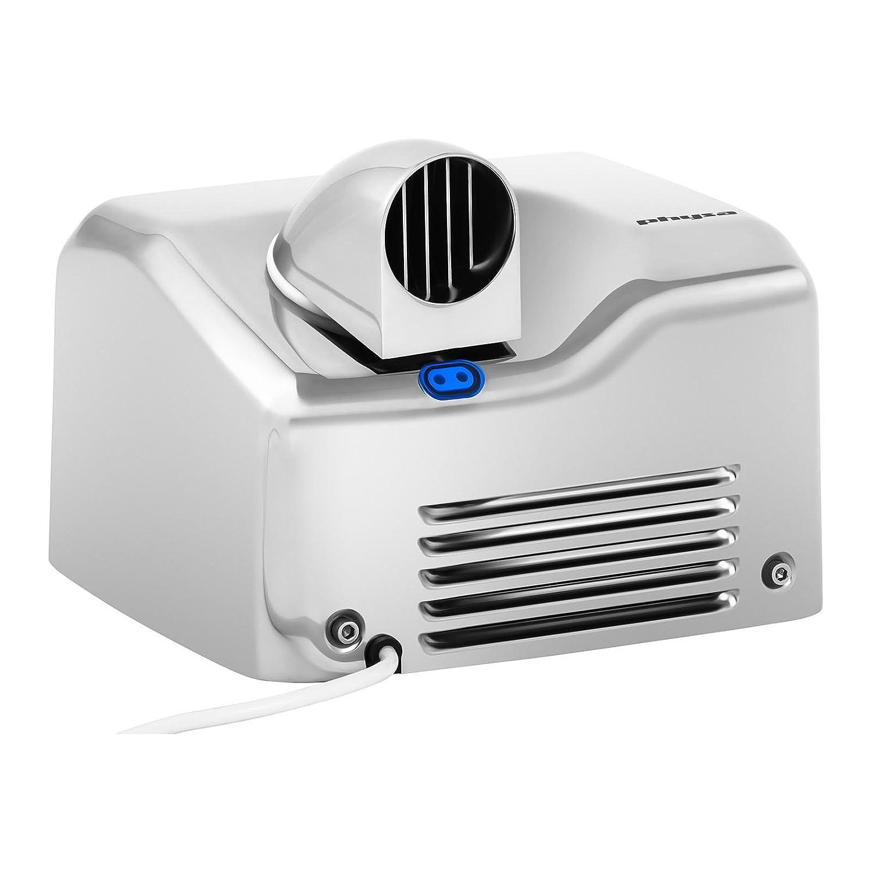Physa Asciugamani Elettrico Automatico Asciugatore Mani da Bagno VELLA SILVER Tempo di asciugatura max. 15 s, 6000 rpm, Velocit/à del getto daria 35 m//s, Volume dellaria 270 m/³//h