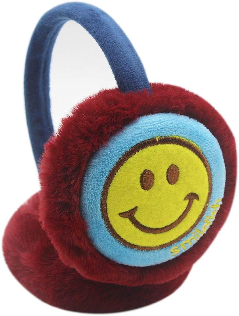 Kids Boys Girls Winter Earmuff Cute Smile Faux Fur Plush Ear Warmer Protector