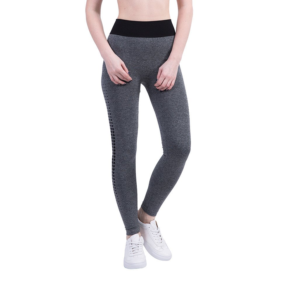 iLUGU Women Gym Yoga Patchwork Sports Running Fitness Leggings Pants Athletic Trouser(S,Black-29)