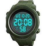 R-timer(アールタイマー) 腕時計 メンズ デジタル 防水 多機能 スポーツウォッチ led 時計 ストップウォッチ アラーム機能 12/24時刻切替え 日付表示
