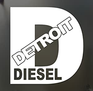 Detroit Diesel Turbo Chevy Sticker Funny Rolling Coal FWD Truck Window, Die Cut Vinyl Decal for Windows, Cars, Trucks, Tool Boxes, laptops, MacBook - virtually Any Hard, Smooth Surface