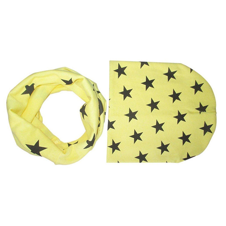 set di cappellino e sciarpa circolare per bambini piccoli Bodhi2000 delizioso motivo a stelle