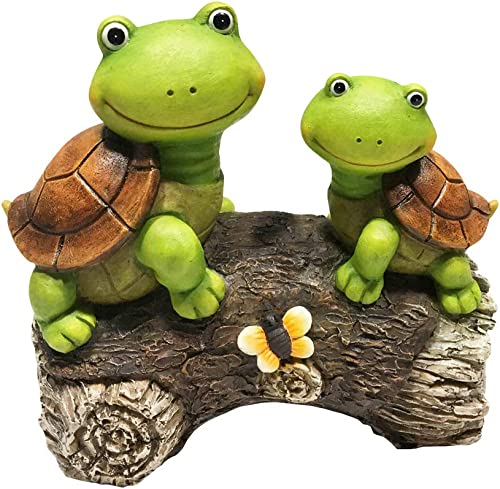 LA JOLIE MUSE Garden Statue Figures Turtles on a Log