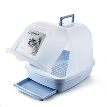 Amazon.com: LUOER Cat Litter Box Kit With Handle And Double Drawer ...