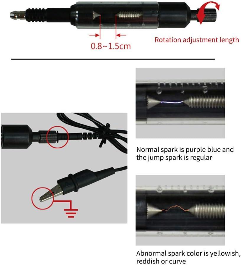 KKmoon Car Spark Plug Tester Ignition Tester Automotive High Voltage Diagnostic Tool Adjustable Spark Detector Gauge Car Accessories