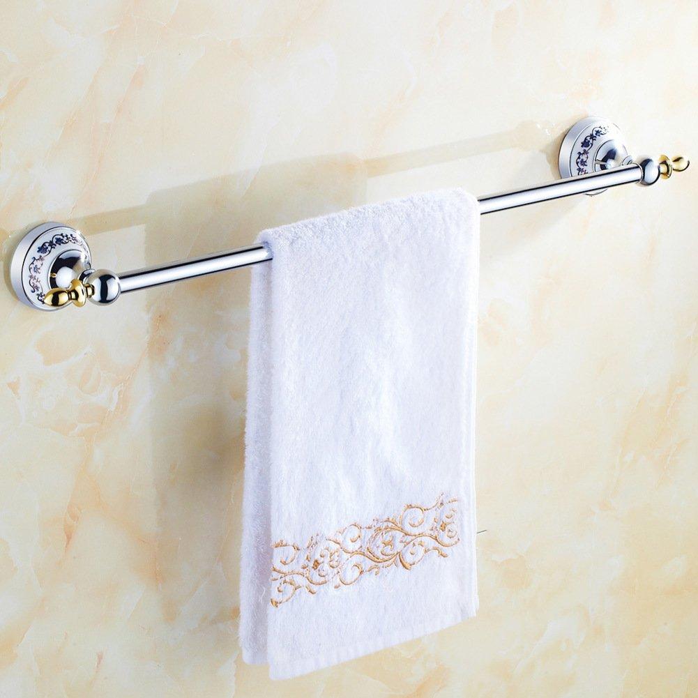 high-quality Golden towel racks/Single towel bar/all-brass Towel rack/toilet/Bathroom accessories/blue and white porcelain Towel Bar-B
