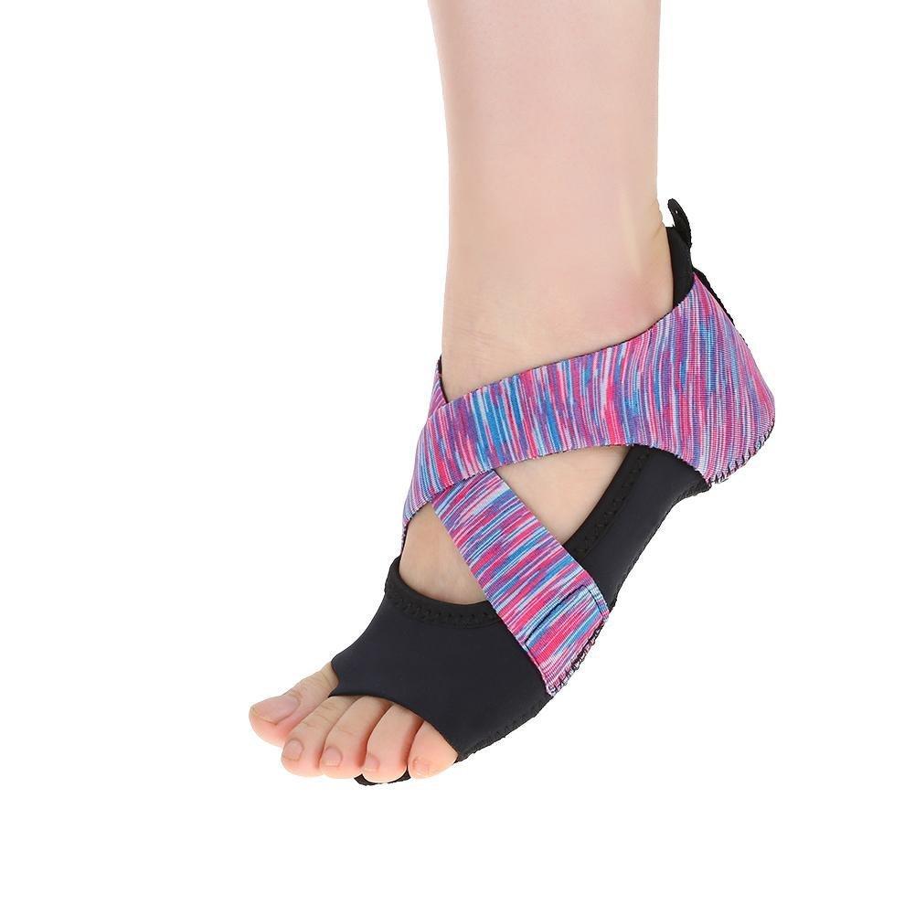 Frauen Yoga Rutschfeste Pilates Barre Weicher Tanz Tanzschuhe Lila Doact Anti-Rutsch Yoga Socken Yoga Schuhe