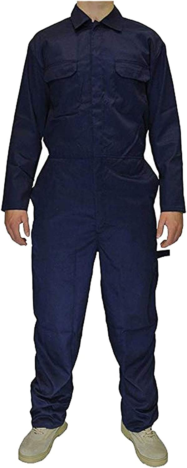 REAL LIFE FASHION LTD Unisex Polycotton Coverall Overall Suit Welding Mechanic Work Boiler Jumpsuit