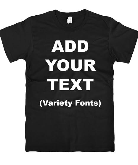 4454559f71cc4 Custom T Shirts Ultra Soft Add Your Text for Men & Women Unisex Cotton T  Shirt