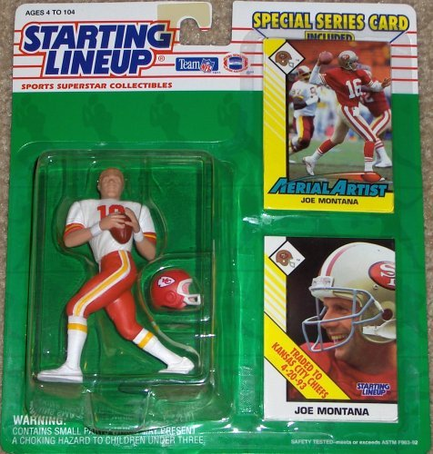 1993 Joe Montana Kansas City Chiefs Kenner SLU Starting Lineup NFL Football Figure by Starting Line Up