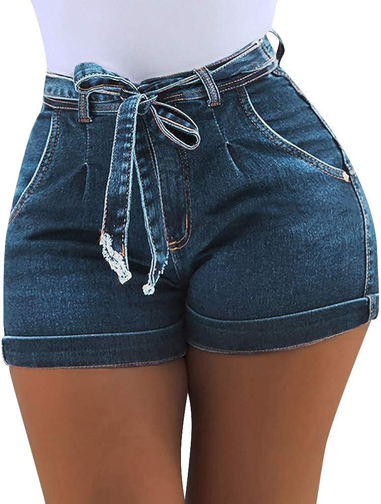 hositor Jean Shorts New Ladies Summer Short Jeans Denim Female Pockets Wash Denim Shorts