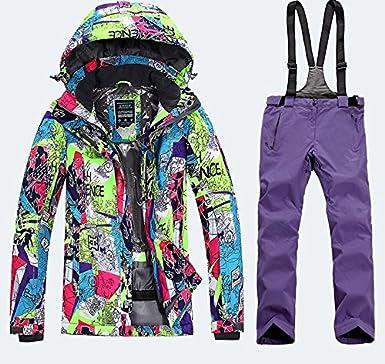 LEIT YFF Traje de esquí para Mujer Chaquetas de Snowboard ...