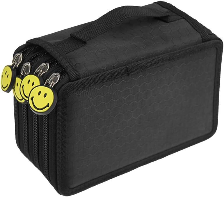 plomb ne sont pas inclus Trousse Oxford garnie 72/slots Trousse SUPER Grande trousse pour crayons de couleur Crayons noir