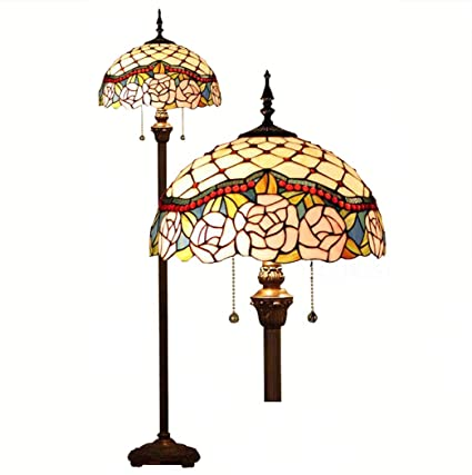 Luces de piso estilo Tiffany, vidrieras artesanales ...