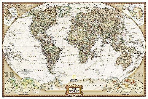 Mapa de referencia, National Geographic.Edición 2018,91x61cm