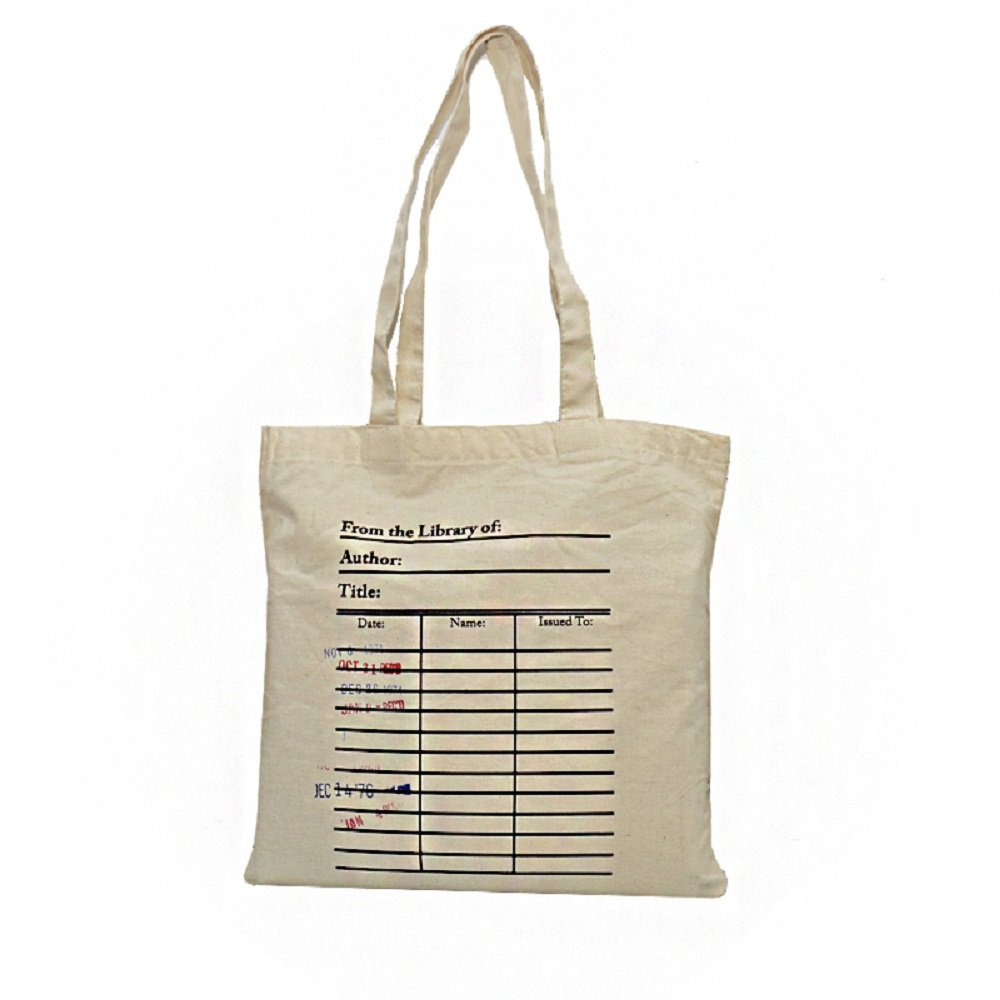 Library Card Tote Bag. Library Card with Day Due Stamps Handbag. Book Bag. Library Bag. Market Bag