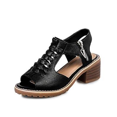 Amazon.com: qisc para mujer zapatos de mujer Encaje Hasta El ...