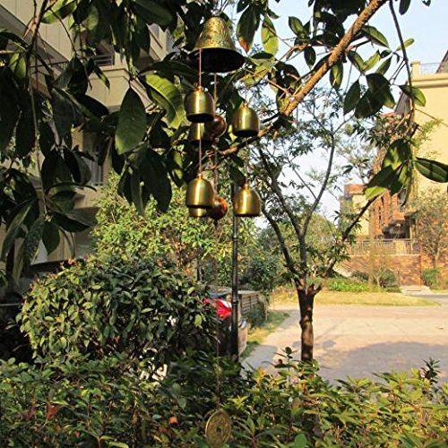 China Amazing Grace 6 Bells Copper Clock Yard Garden Outd...