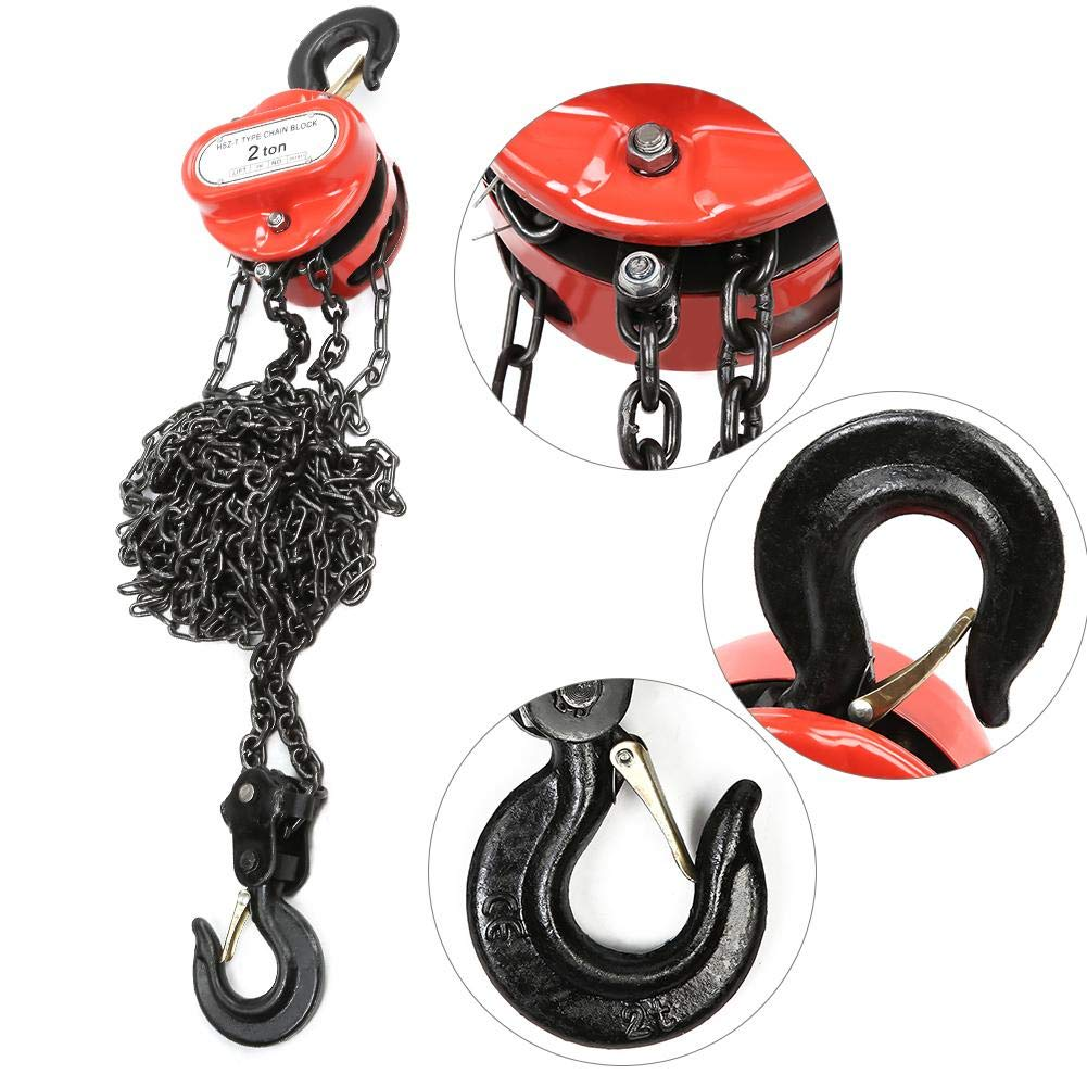 3 m 2 Ton Chain Block Lift Height Hand Tackle Hoist Hand Tools Lifting Chain