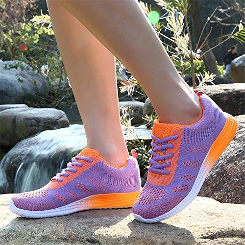 Femmes pour Sport Purple pour Sneaker Les de Chaussures Léger 074 Respirant Sport Casual FZDX Hommes tCIqHwxH
