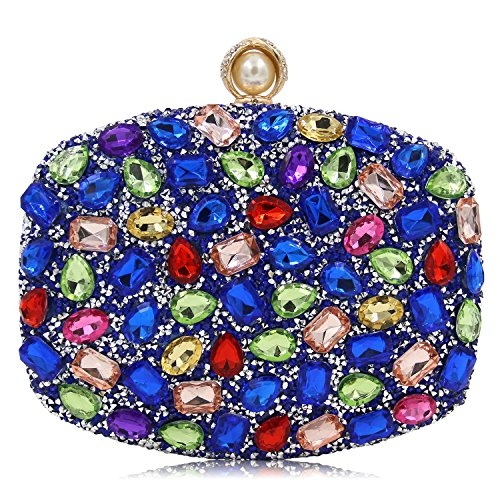 Bags Luxury Clutches F Women's Crystal Fashion Handbags Bags Wedding Colorful KYS Acrylic Evening zZxZ8