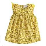 Snowdreams Girls Floral Print Blouses Summer Sleeveless Cotton Tops Color Yellow Size 8