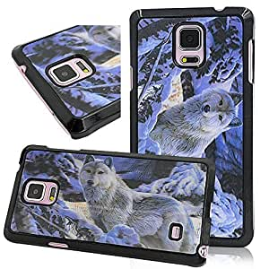 Seedan 3D Visual Design Case for Samsung Galaxy Note 4 - Snow Wolf Painting PC Hard Back Cover Skin Variety Shell Sturdy Protector