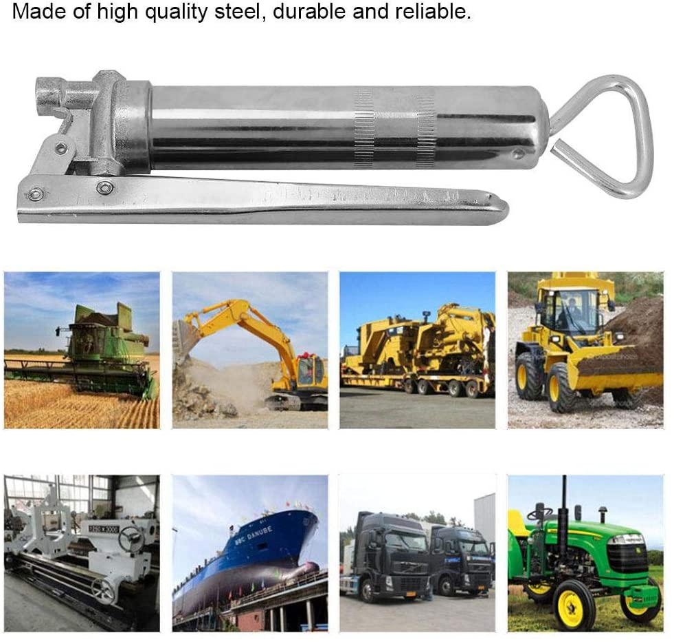 pneumatisches Hochdruck-Fettpressenkartuschenschmierwerkzeug aus 100CC-Stahl Fettpresse Diyeeni Fettkupplungsverschl/üsse an Armaturen