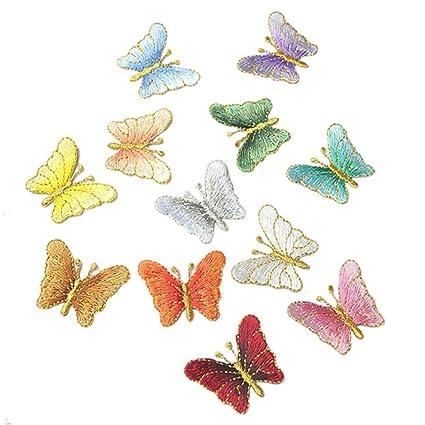 Écusson patche Papillon butterfly violet patch transfert thermocollant