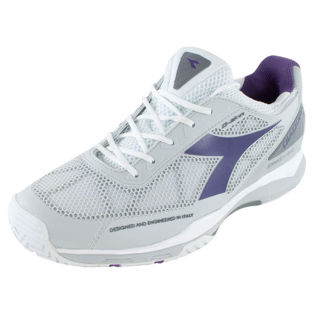 good selling select for newest most popular Diadora Women's S.Pro Evo AG Tennis Shoe-6.5 B(M) US-White/Violet