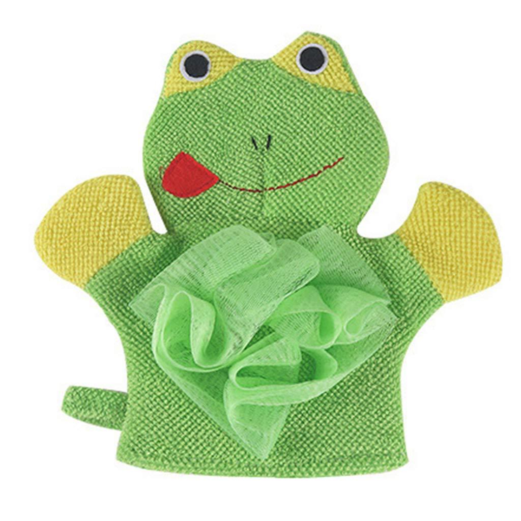 Rose Serviette de Bain se Frottant 21 x 14 cm B/éb/é Enfant Bain Mentin 2 En 1 Gant de toilette Animal