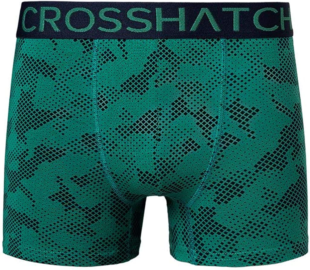 Crosshatch Mens Boxers Shorts Multipacked 3PK Underwear Gift Set 3 Pack Tresco Greenly - 6 Pack