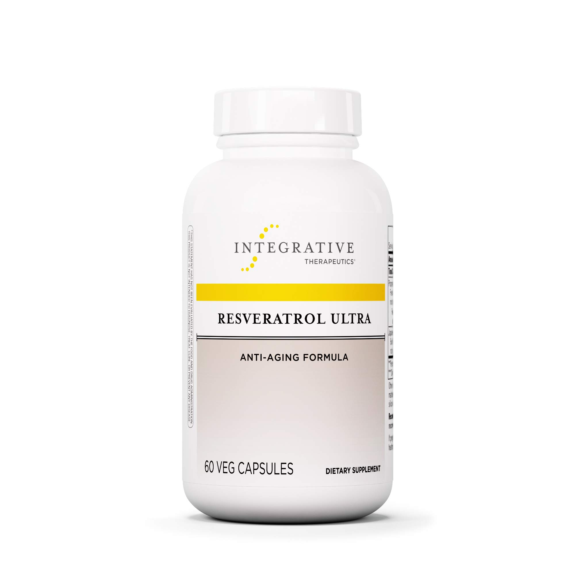 Integrative Therapeutics - Resveratrol Ultra - Anti Aging Formula - Spports Cellular Health to Reduce Oxidative Stress - 60 Capsules