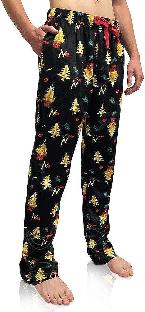 Bottoms Out Mens Comfortable Super Soft Designer Mink Fleece Pajama Sleep PJ Lounge Pants For Men
