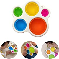 2pcs Simple Dimple Fidget Toys, Baby Sensory Multicolor Toys Gifts, Infant Early Education Toy (A)