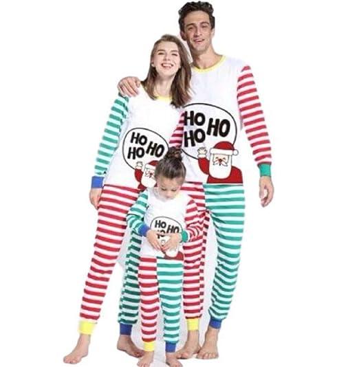 11138701eb Amazon.com  Matching Family Pjs Christmas Entire Family Jammies Cotton  Pajamas Sets Best Kids Sleepwear Xmas C6  Clothing