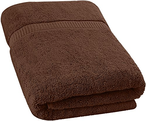Utopia Towels Soft Cotton Machine Washable Extra Large Bath Towel (35-Inch-by-70-Inch) Luxury Bath Sheet, Dark Brown