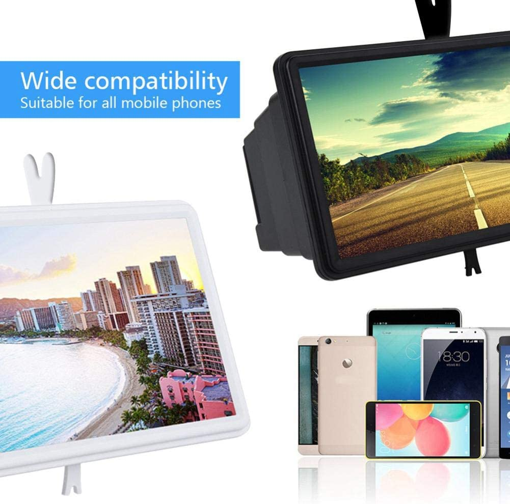 Cell Phone 3D HD Movie Video Amplifier with Foldable Holder Stand Compatible with Any Smartphones WSJF 14 Screen Magnifier Smartphone Magnifying Glass