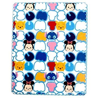 Disney Tsum Tsum Super Soft Travel Blanket 40 in X 50 in Pastels: Home & Kitchen
