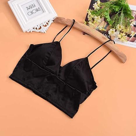 531940a8e8603a Tinksky Silk Vest Bra Crop Top Bralette Bra Strap Bandeau Tube Bra Top Vest  for Women Girls (Black): Amazon.co.uk: Clothing