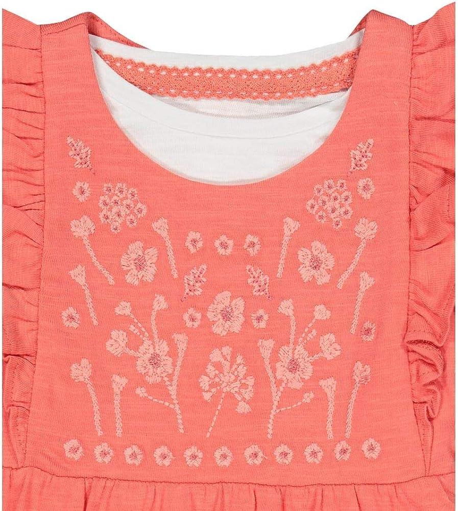 Mothercare MG FM Coral Frill Dungaree//LS Tee Set Bimba