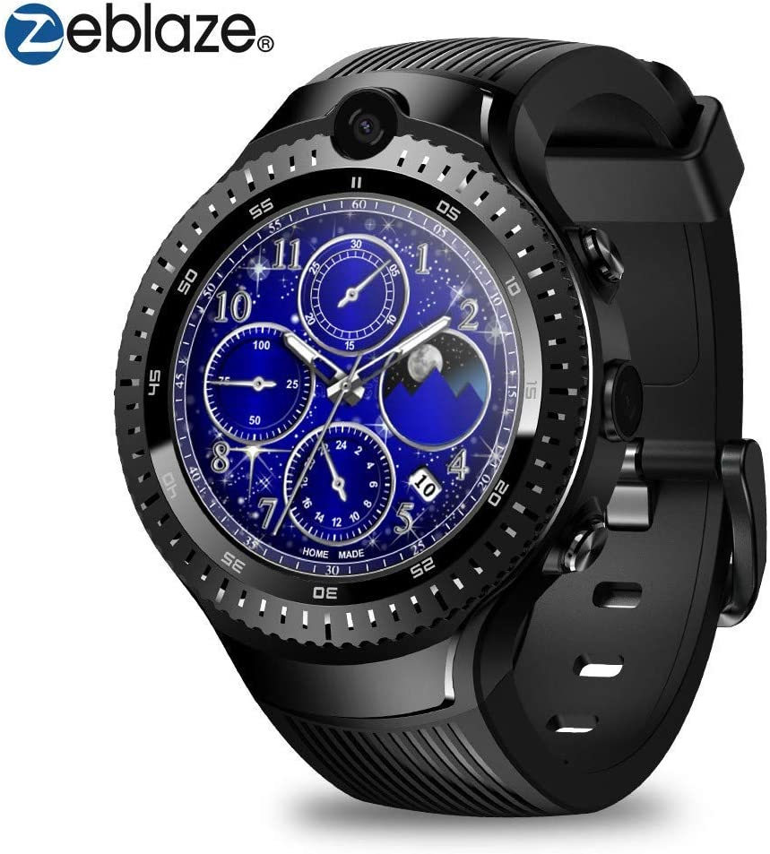Zeblaze Thor 4 Dual Smart Watch,4G Fitness 1GB+16GB Smartwatch Android Smart Watch Phone with GPS WiFi Heart Rate 5MP Camera Mic/Speaker