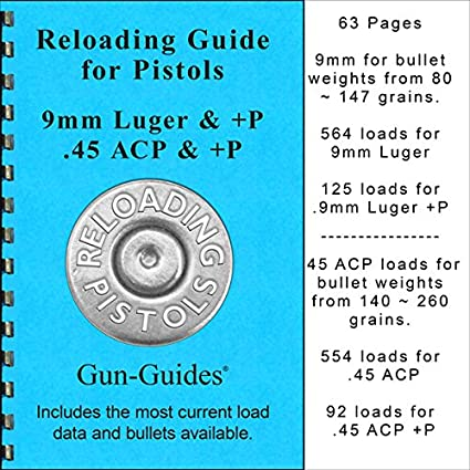 Amazon com : Gun-Guides Reloading Guide for Pistols 9mm & +P and 45